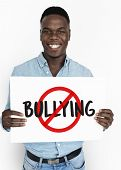 Aggressive Behavior No Bullying Icon poster