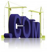 com building create your website get an url on the internet www under construction or maintenance 3D