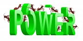 power and strenght ants building green word strong poster