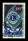 REPUBLIQUE DU DAHOMEY-CIRCA 1967:A stamp printed in REPUBLIQUE DU DAHOMEY shows image of the Lions C