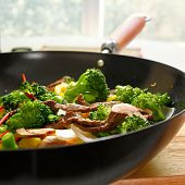 foto of chinese wok  - wok stir full of stir fry - JPG
