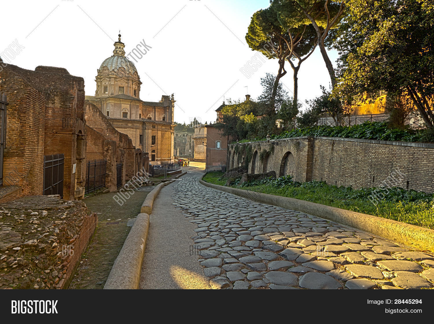 Old Street In Rome Stock Photo - Image: 35089160