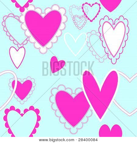 Seamless Repeating Hearts Pattern