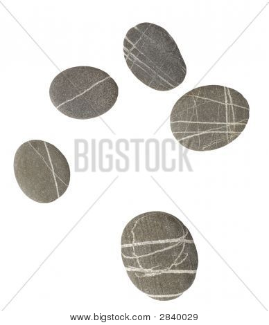 Pebbles On White