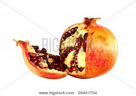 Pomegranate Isolated In White Background