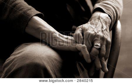 Ältere Dame Hände