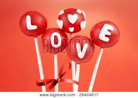 Valentine pop cakes