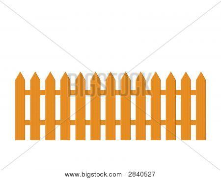 Wood Picket Fence Illustration