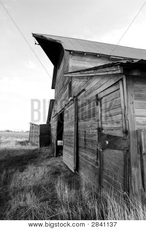 Black And White Idaho Barn