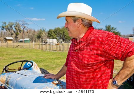Rancher Surveys His Land
