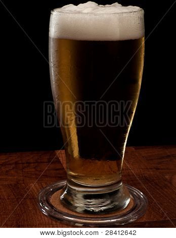 Light Beer On A Bar