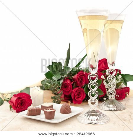 Chocolate, Roses And Champagne
