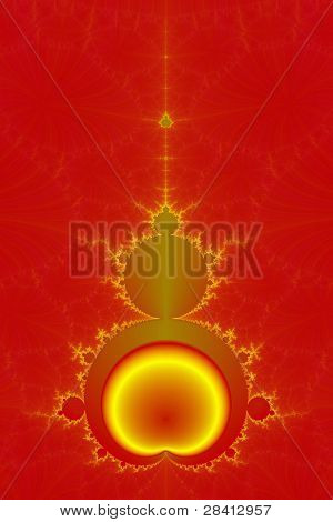 Mandelbrot in Red and Yellow