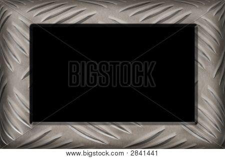 Grungy Diamond Plate Frame