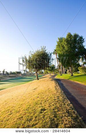 Cart Path At Golf Course