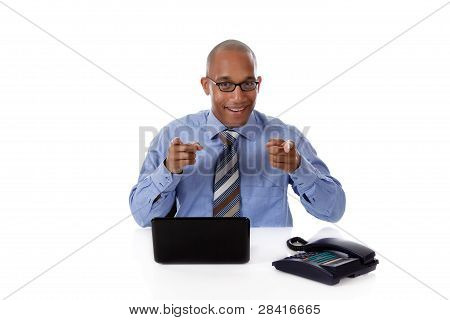 Young Attractive African American Businessman