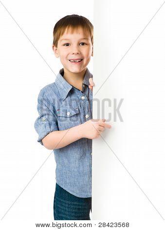 child behind a board