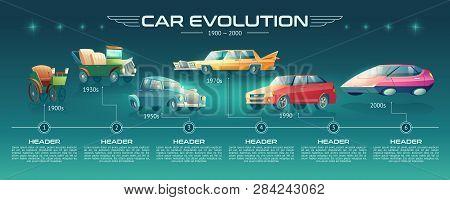 Car Evolution Cartoon Vector Banner