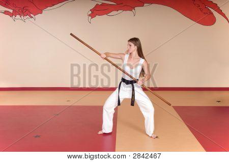Mujer de artes marciales