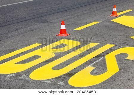Straße Kennzeichnung