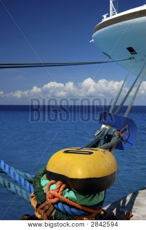 Moored Cruise Ship In The Caribbean - See Portfolio