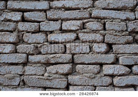 Ziegelmauer.