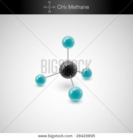 Methane Molecule Model