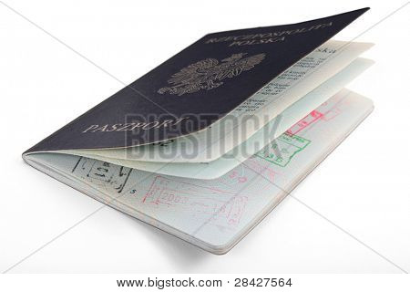 Polish Passport isolated on white background