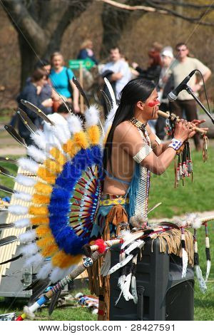 American Native dancer