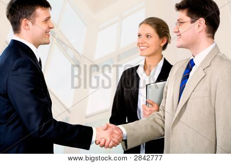 Businessmen's handshake