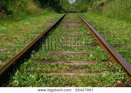 Railroad tracks in perspective