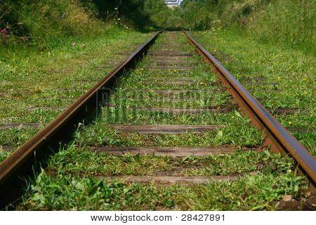 Railroad tracks in perspective