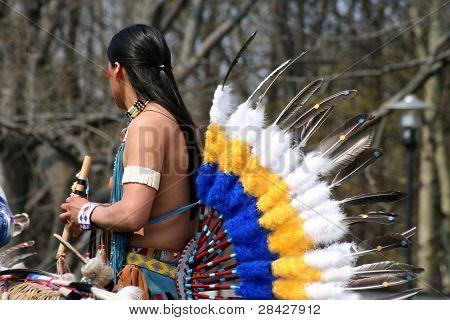 American Native dancer