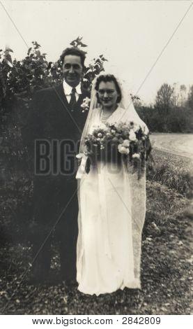 Vintage Family Wedding Photo