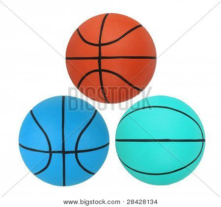 Basketballs isolated on white background