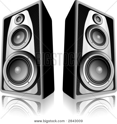 Speakers On White Background