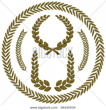 laurel wreath. This image is a vector illustration and can be scaled to any size without loss of resolution.