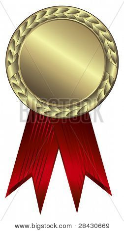Gold award ribbons - This image is a vector illustration and can be scaled to any size without loss of resolution