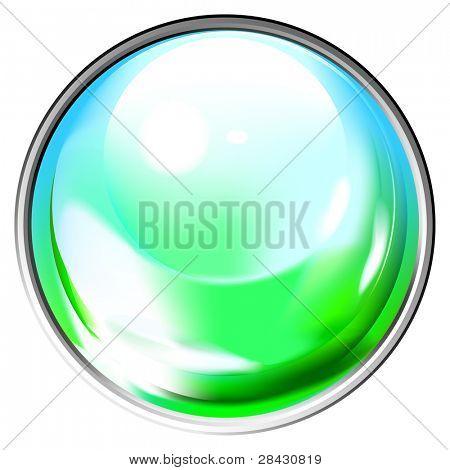 farbige transparenten Sphäre. Dieses Bild ist eine Vektor-Illustration und kann auf jede Größe Withou skaliert werden