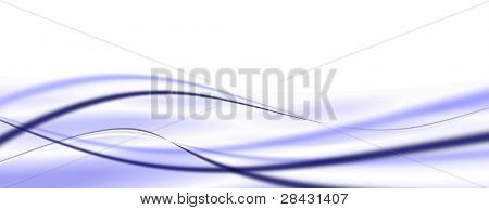Nice, modern abstract wave background on white