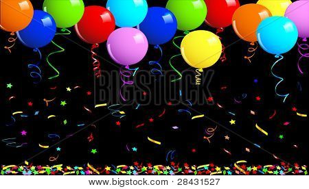 Party balloons background. This image is a vector illustration and can be scaled to any size without loss of resolution