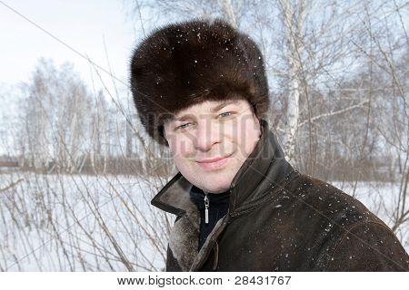 Happy Man Posing In Park