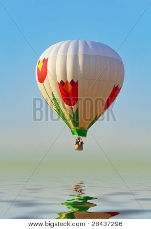 Hot Air Ballon Above Water