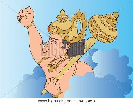 Hanuman the hindu ape (Monkey) god