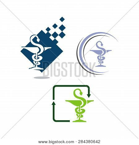Drugstore Logo Design Caduseus Icon