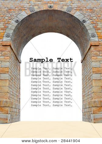 Stone gate frame with room for your text or image.