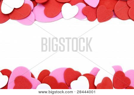 Heart-shaped confetti border