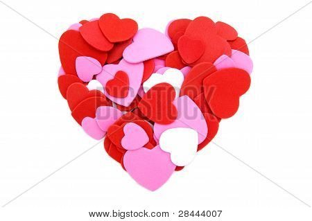 Heart made of Valentines confetti