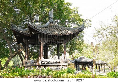 Oriental pavilion in the park