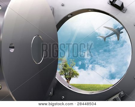 Bank vault and Flight to paradise